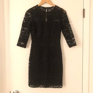 Black Lace J. Crew Mini Dress